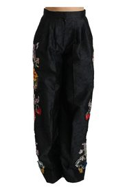 Brocade Floral Sequined Beaded Pants