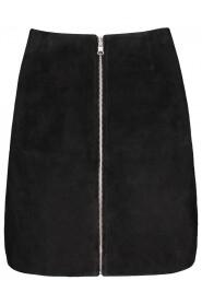 Sort Maud Leather Skirt Skjørt