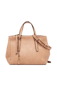 Leather bag with double handle