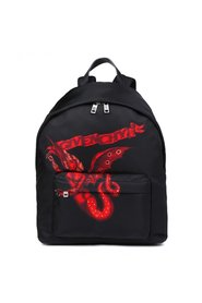 Nylon backpack with print