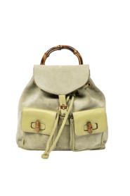 Rare Vintage Bamboo Backpack
