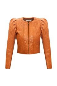 'Kyra' quilted leather jacket