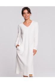 Sukienka z kapturem i rozcięciem B128