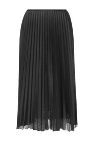 Double-layered skirt with logo