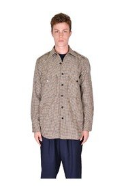 SH17 PLEATED OVERSHIRT HOUNDSTOOTH