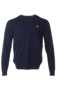 Marineblå Fred Perry Classic Crew Neck Genser