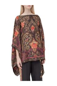 Poncho with Paisley Pattern