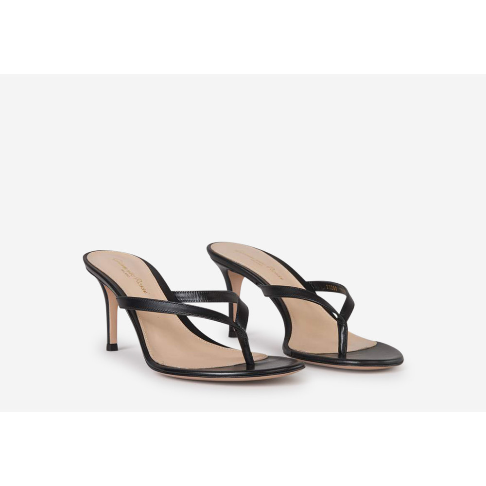 Gianvito Rossi BLACK Vitello Cuoio sandals Gianvito Rossi