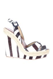 Print Calf Hair Espadrille Wedges