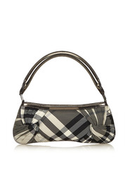 Plaid Nylon Baguette