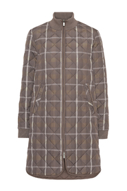 ART06 Tartan Padded Quilt Coat