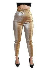 Glittered Skinny High Waist Pants