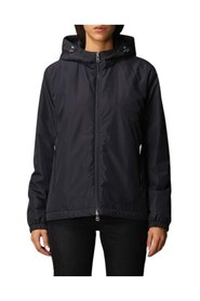 Typhoon down jacket with hood and double-slider zip closure