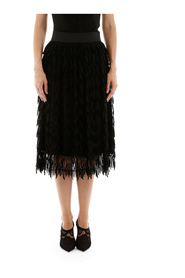 Fringed tulle skirt