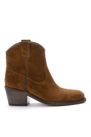 Suede Texan ankle boots