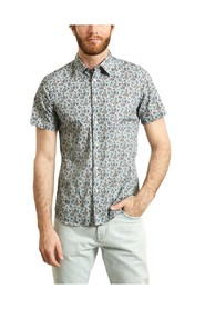 Floral Short Sleeves Cotton Shirt