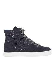 High top suede trainers
