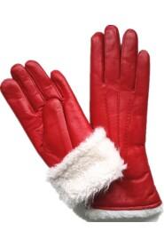 Varma Handskar Fårskinnshandskar Röd