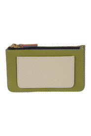 Saffiano leather flat wallet