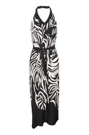 Zebra Print Open Back Dress