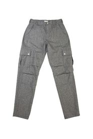 Virgin wool flannel cargo trousers