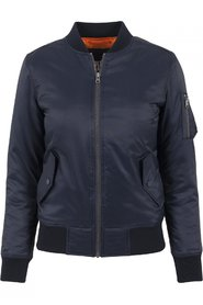 Ladies Basic Bomber Jakke | Navy