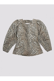 Lucy Puff Sleeve Leopard Top