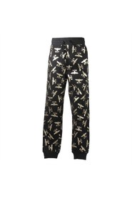 Sweatpants with golden logo detail