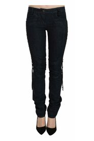 Low Waist Skinny Trousers Braided String Pants