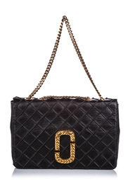 Double J Quilted Leather Flap