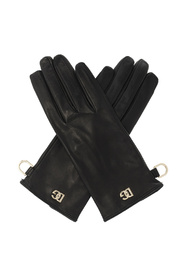 Nappa leather gloves with DG logo