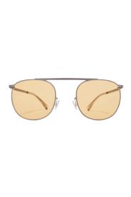 Aviator-Frame Graphite Sunglasses