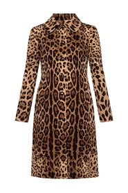 Leopard-printed coat
