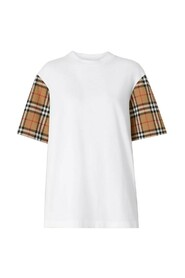 Serra T-shirt With Vintage Check Sleeves