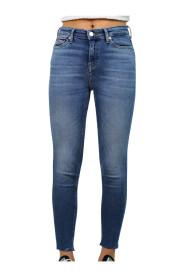 Jeans Skinny Fondo Taglio Vivo Donna