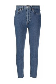 90S HIGH RISE ANKLE JEANS