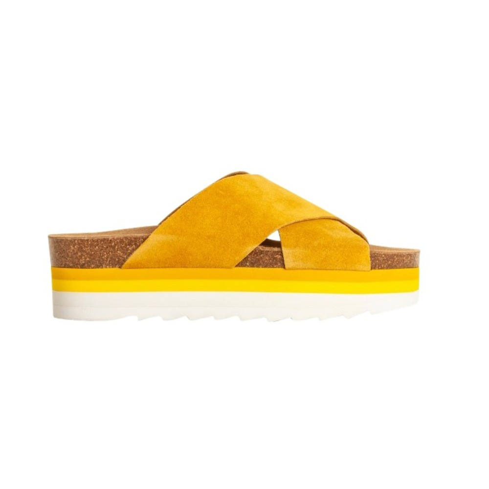 Suede Sandals Ocre