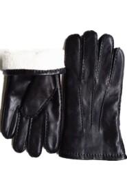 Classic Sheepskin Gloves Lambskin Gloves Mænd - Sort