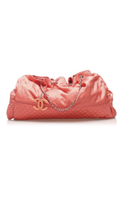 Cabas Satin Shoulder Bag