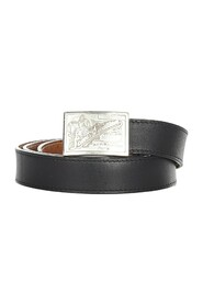 Pre-owned Belt Leather Calf