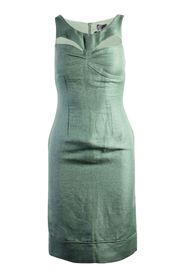 Pre-owned Linen Cut Out Dress