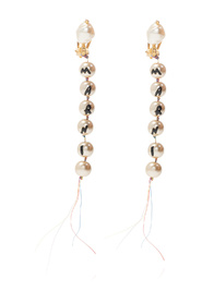 Glass-pearl clip-on earrings