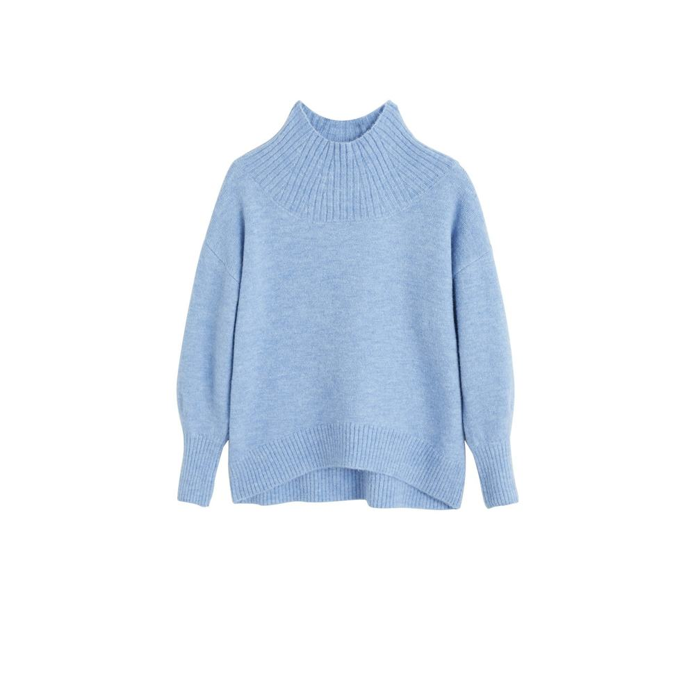 Sweater med ribhals