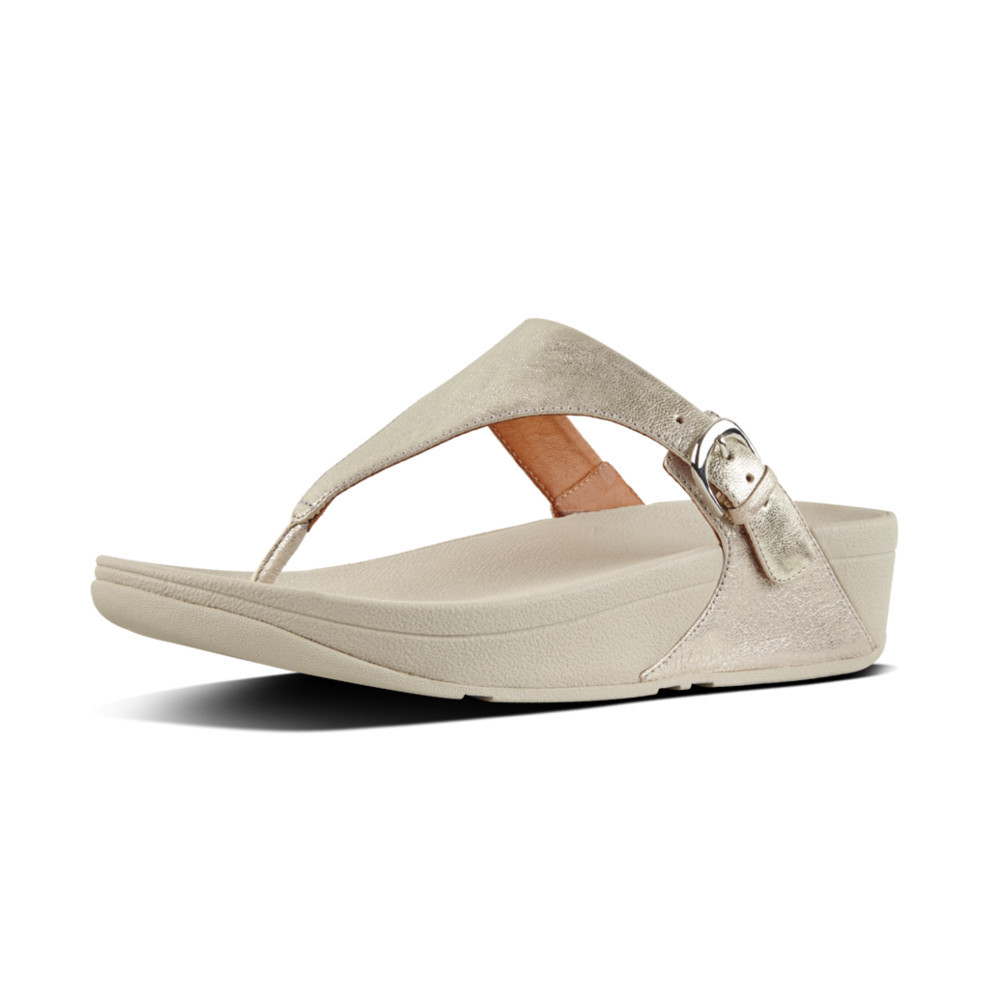 Silver Fitflop Skinny T-Thong Leather
