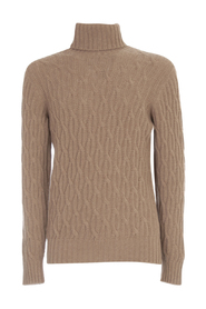 CASHMERE SWEATER TURTLE NECK WITH BRAID