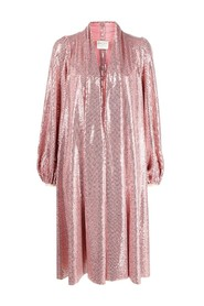 Sequined jersey duster