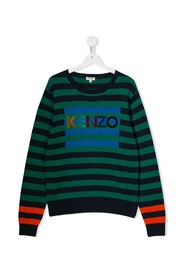 Striped jumper with logo