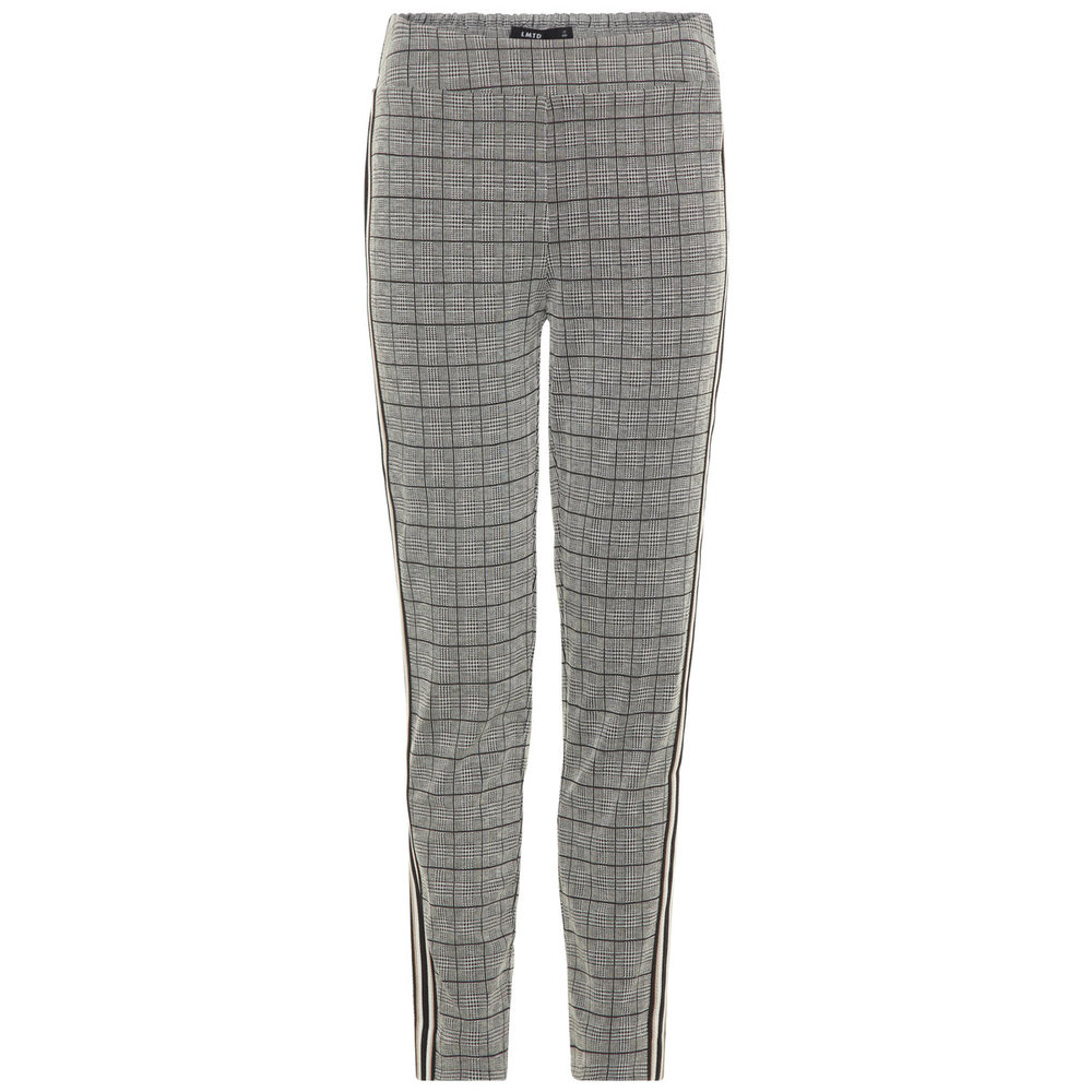 Trousers checked side stripe