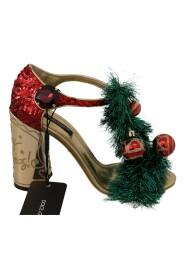 Läder kristall JUL Sandaler skor