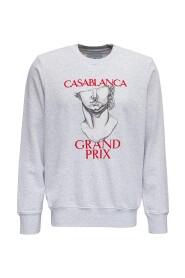 Sweatshirt with Grand Prix Print